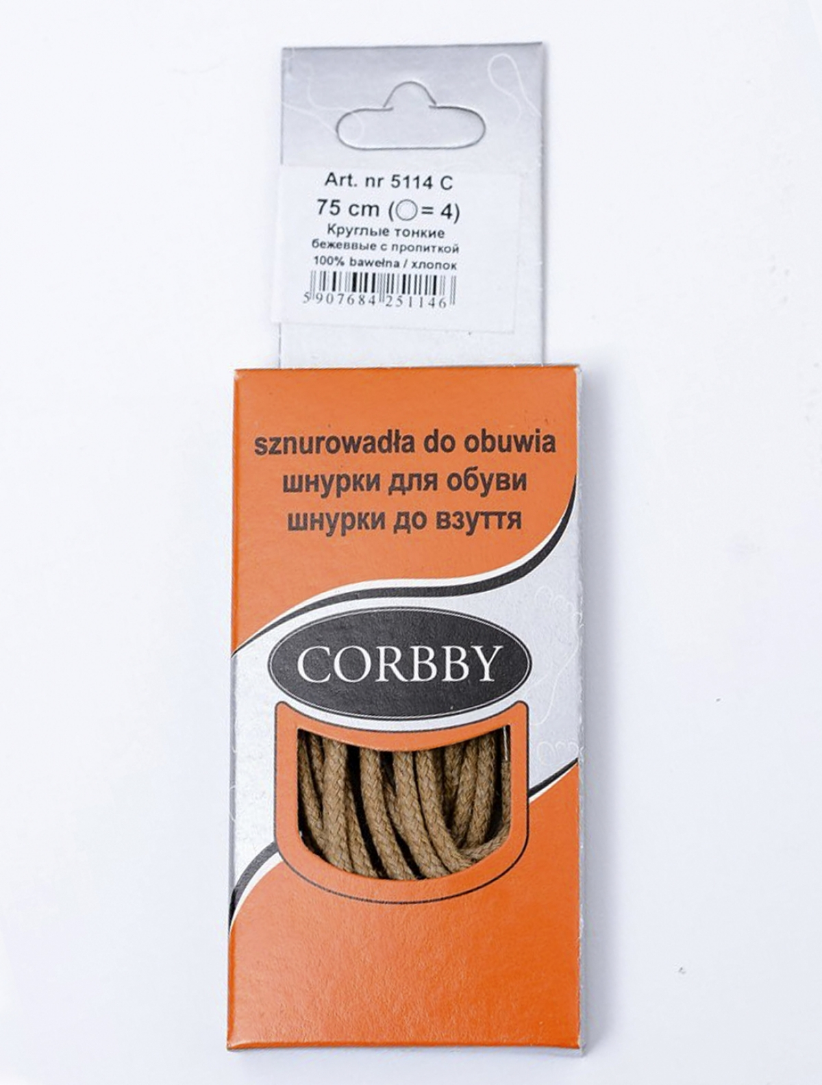 Corbby 5214C шнурки бежевый