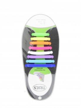Trien SL-8-36 шнурки разноцветный силикон